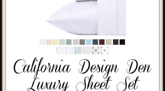 California Design Den Luxury Sheet Set Giveaway!