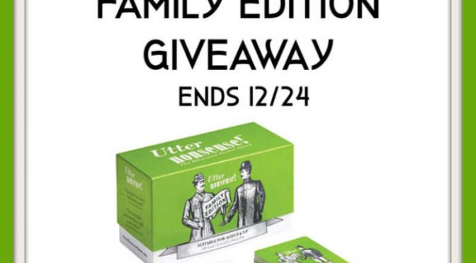 Utter Nonsense Family Edition Giveaway!