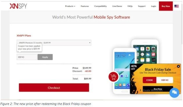 Xnspy Black Friday Coupon – FLAT 40% OFF!