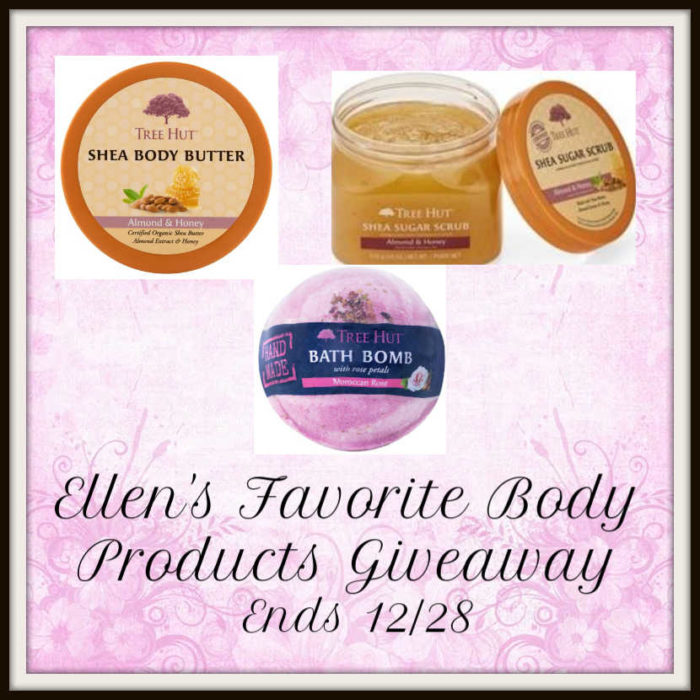 Ellen's Favorite Body Products Giveaway