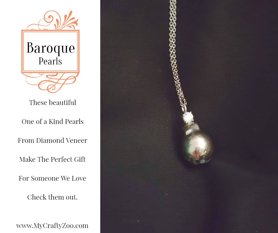 Baroque Pearls: Unique & Beautiful! @DiamondVeneer @Craftyzoo