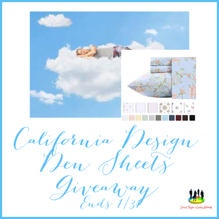 California Design Den Sheets Giveaway!