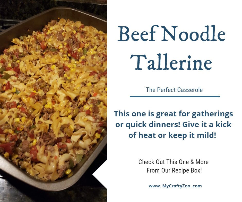 Beef Noodle Tallerine - An Okie #Recipe! Try it tonight!