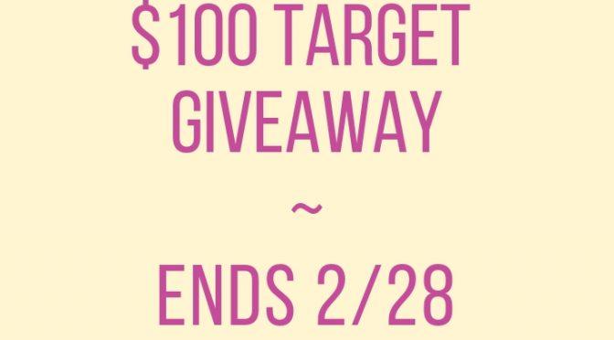 $100 Target #Giveaway Ends 2/28