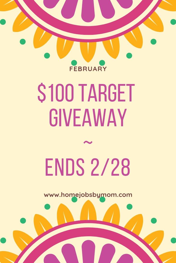 $100 Target #Giveaway Ends 2/28 @homejobsbymom #giveawayalert