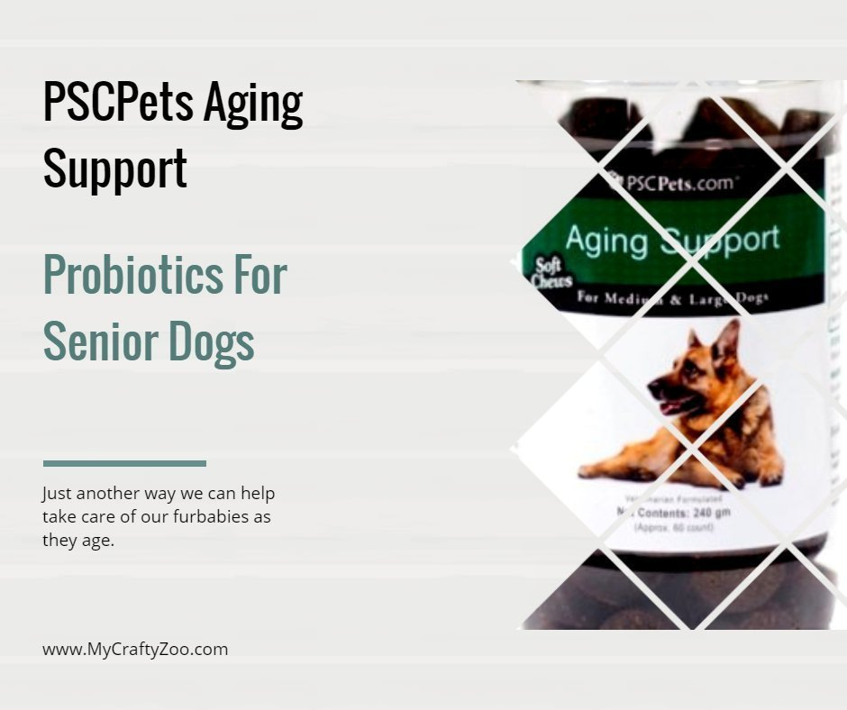 PSCPets Aging Support: Probiotics For Senior Dogs