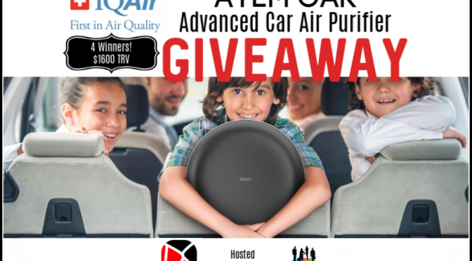 #IQAir Atem Car Advanced Car Air Purifier Giveaway! @IQAir @SMGurusNetwork