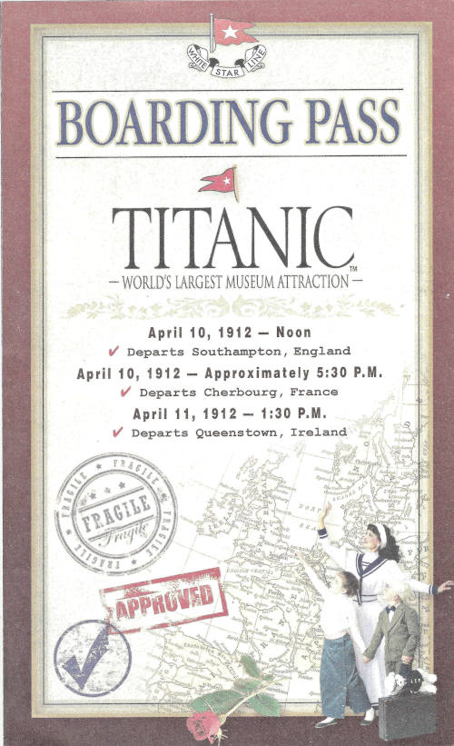 Boarding the Titanic: Titanic Museum Branson, MO