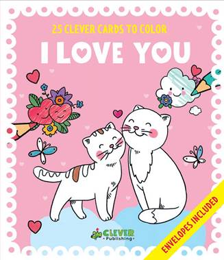 Clever Cards to Color: I Love You #CleverPublishing