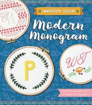 Modern Monogram Embroidery Designs by Kelly Fletcher