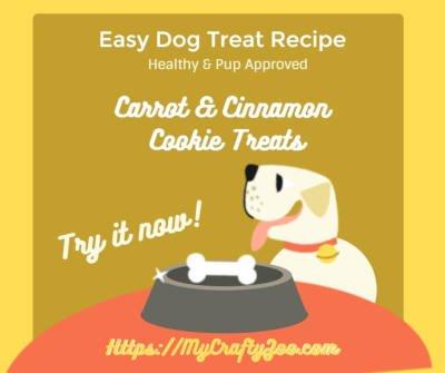 Easy Dog Treats Recipe: Carrot and Cinnamon Cookies