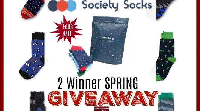 Society Socks 2 Winner Spring Giveaway! Ends 4/11 @SMGurusNetwork @societysocks
