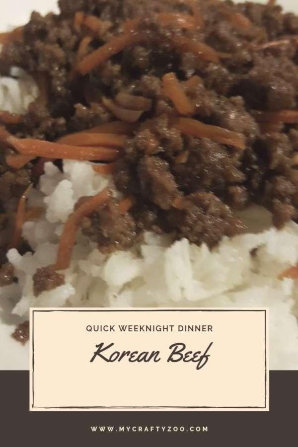 Korean Beef: Quick & Easy Weeknight Dinner