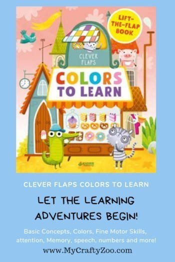Clever Flaps Colors to Learn: Let Your Child's Adventures Begin! @CleverBooksUS