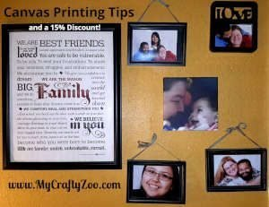 Canvas Print Tips & A Discount