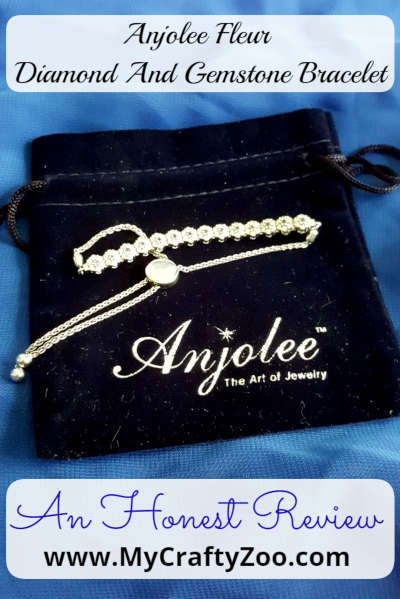 Anjolee Fleur Diamond And Gemstone Bracelet: Honest Review @CraftyZoo @anjolee_diamond