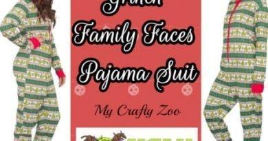 Grinch Pajama Suit: Christmas Jammies Giveaway @uglyxsweater @CraftyZoo