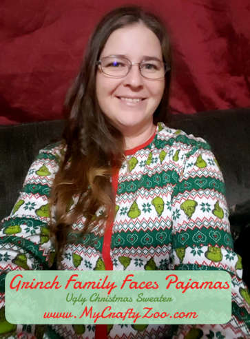 Grinch Pajama Suit: Christmas Jammies @uglyxmas @CraftyZoo