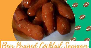 Beer Braised Cocktail Sausages