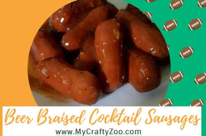 Beer Braised Cocktail Sausages