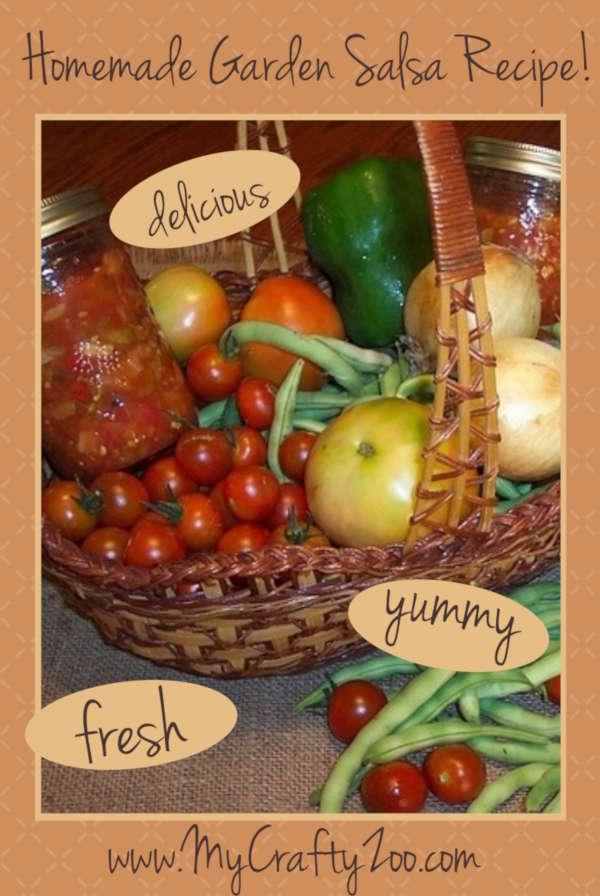 Homemade Garden Salsa Recipe: How to Make Fresh Salsa @Crafty_Zoo