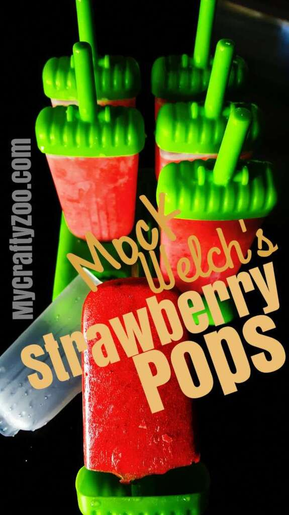 Mock Welch's Strawberry Popsicles @Crafty_Zoo