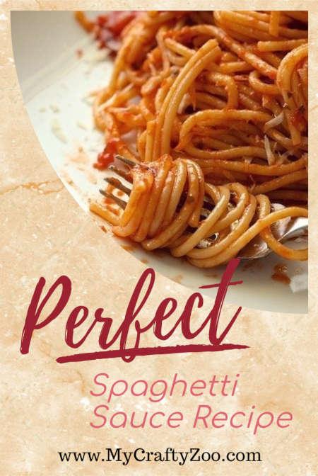 Perfect Spaghetti Sauce Recipe Every Time @Crafty_Zoo