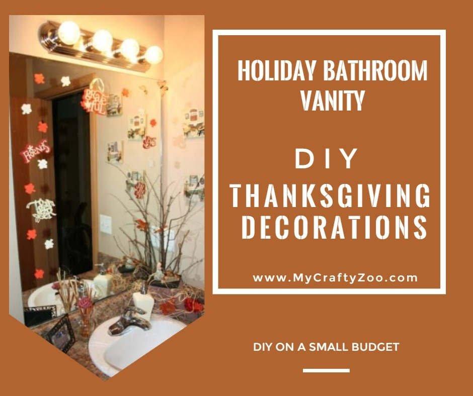 Holiday Bathroom Vanity Thanksgiving Decorations