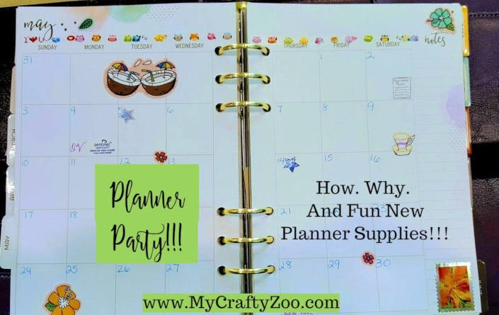 Host a Planner Party #addhappy @weareooly @CraftyZoo