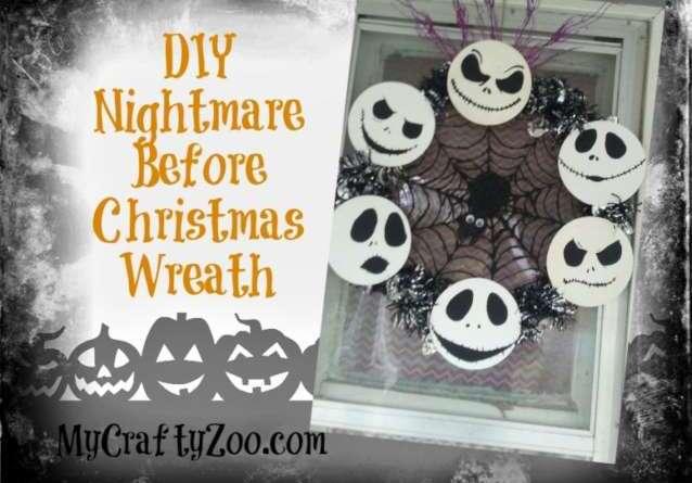 DIY Nightmare Before Christmas Wreath