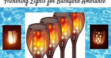 Solar Torch Lights: Flickering Lights for Backyard Ambiance