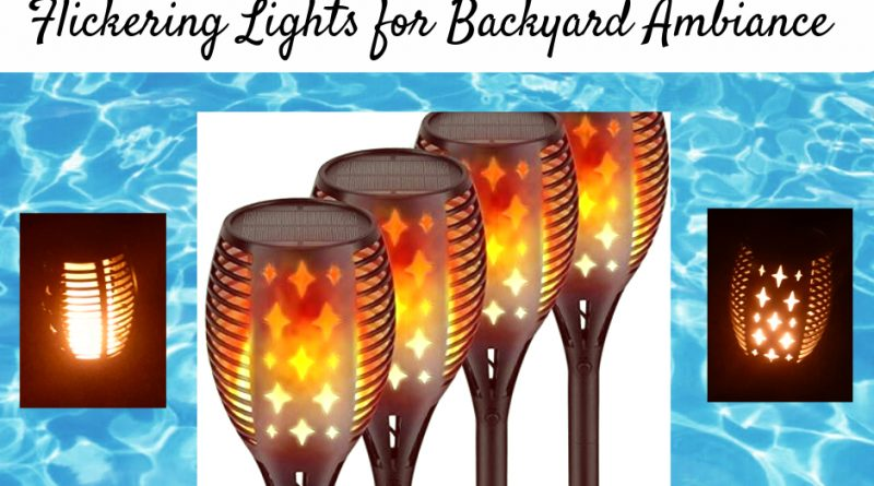 Solar Torch Lights: Flickering Lights for Backyard Ambiance