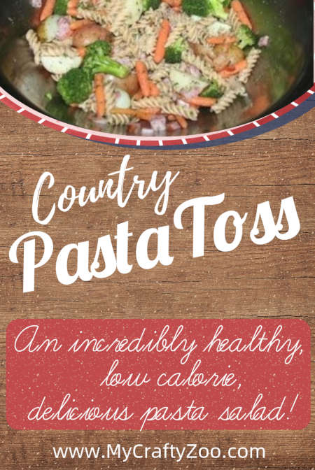 Country Pasta Toss: Epic, Healthy Pasta Salad to Wow Everyone @Crafty_Zoo