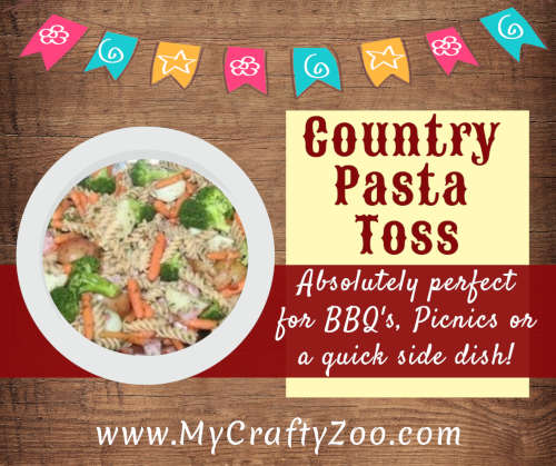 Country Pasta Toss: Epic, Healthy Pasta Salad to Wow Everyone @MyCraftyZoo