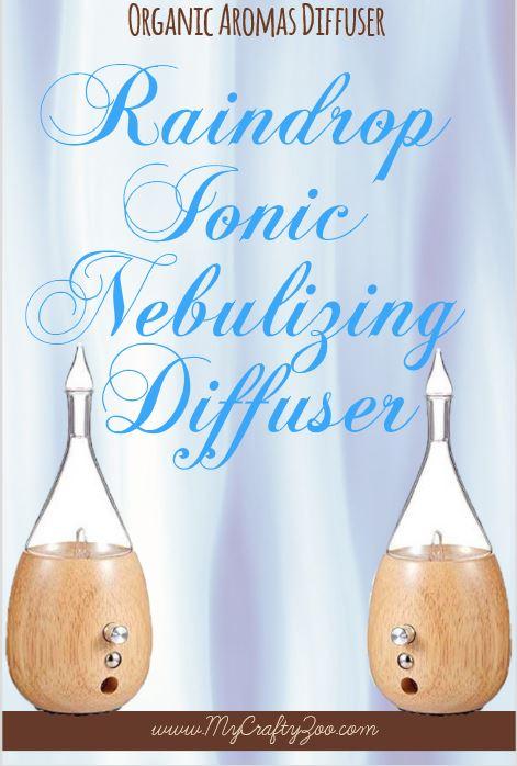 Organic Aromas Diffuser: Raindrop Ionic Nebulizing Diffuser @OrganicAromas @CraftyZoo