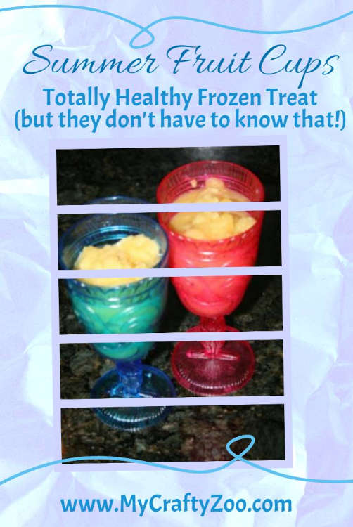 Summer Fruit Cups: Healthy, Delicious Frozen Treat @Crafty_Zoo