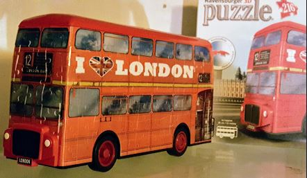 Puzzling Spring Adventures: 3D London Bus Puzzle