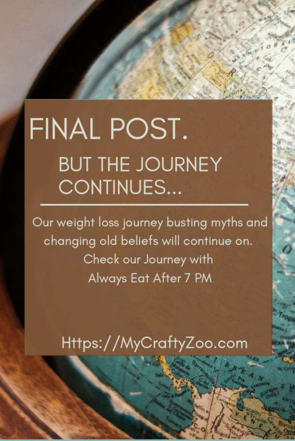 Final Post: Always Eat After 7PM #WeightLoss Journey