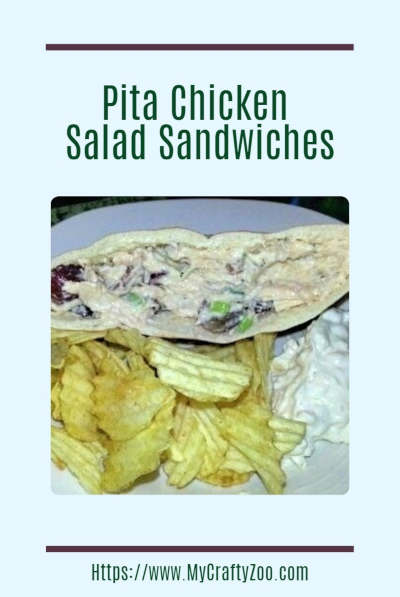 Pita Chicken Salad Sandwiches: An easy meal with chicken and a Fantastic Recipe for Spring, Summer,Game Nights & Picnics!