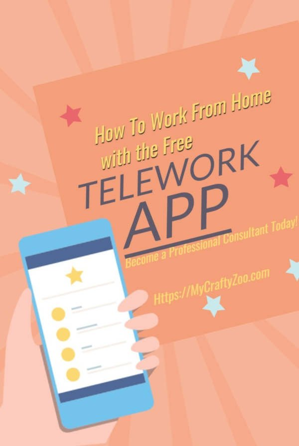 How to Work From Home With the Free Telework App @Crafty_Zoo #workfromhome