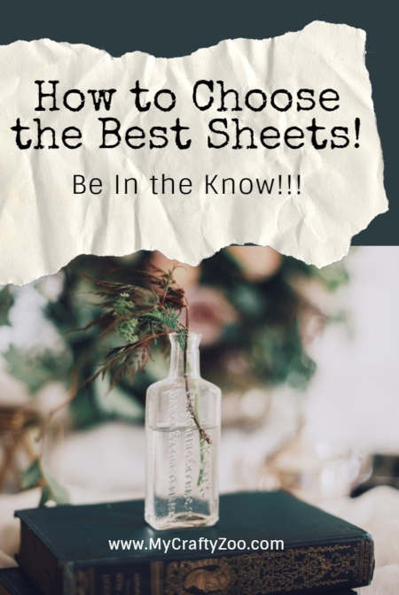 How to Choose the Best Sheets: Be In the Know @Crafty_Zoo