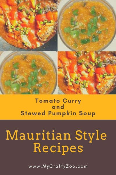 Pilchards Tomato Curry and Stewed Pumpkin Soup Recipes @Crafty_Zoo