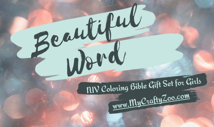 Beautiful Word: NIV Coloring Bible Gift Set For Girls