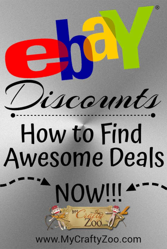 Ebay Discounts: How to Find Awesome Deals Now @Crafty_Zoo