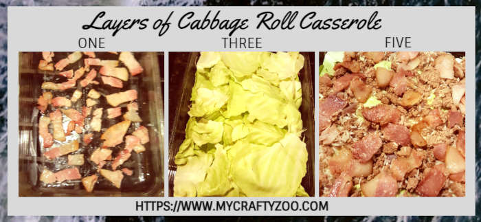 Cabbage Roll Casserole Layers