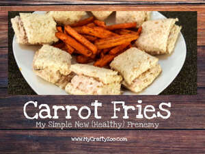 Carrot Fries: My Simple New Healthy Frenemy