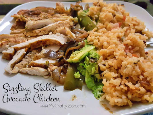 One Skillet Meal: Healthy Sizzling Chicken and Avocados