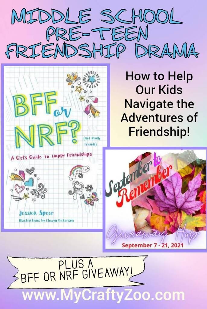 Middle School Pre-Teen Friendship Drama: BFF or NRF Giveaway! @Crafty_Zoo
